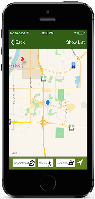 Keep it Safe Saskatchewan app - Finding free contraceptives