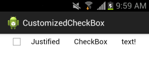Android CheckBox with fully justified text