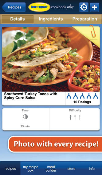 Butterball Cookbook Plus iPhone App - Thanksgiving Leftovers