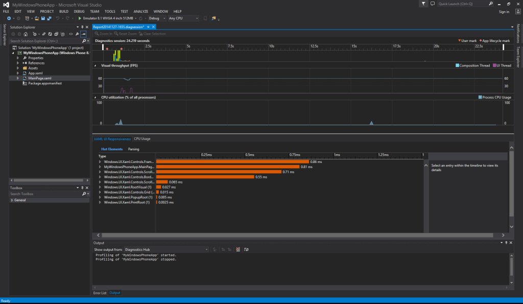 One IDE to Rule Them All - Visual Studio Community Windows Phone Performance Analysis