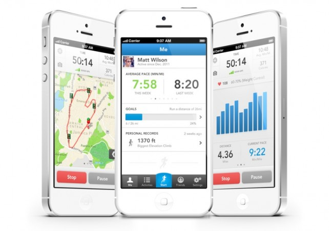 RunKeeper App Screens