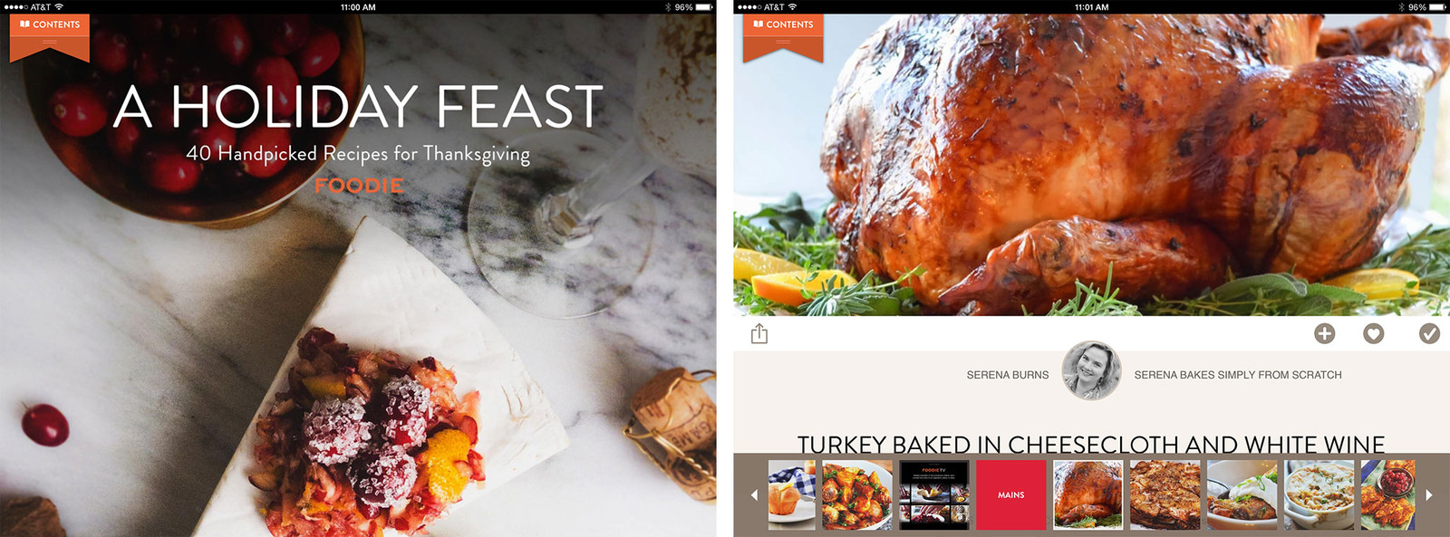 Apps to Help you get ready for the holidays - Foodie Recipes iPad Screenshots